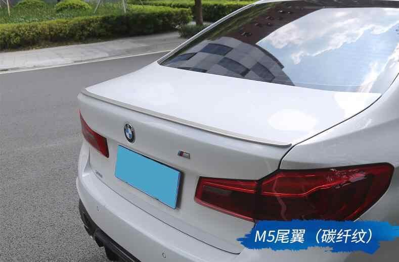 Para BMW G30 G38 Spoiler 2018-2019 Alta Qualidade ABS Unpaint Asa Traseira Do Carro Spoiler Para BMW M5 520 525 528 535 2017 Saqueador