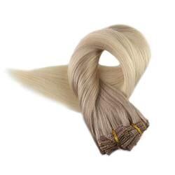 Полный блеск Настоящее Ombre зажим для волос в расширениях 10 шт. 100 г балаяж цвет 18 выцветания до 60 100% remy светлые волосы корни клип в расширение