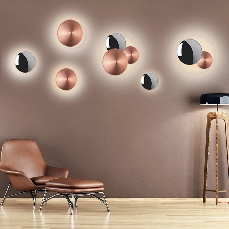 Us 29 5 Living Roombackground Wall Lamps Led Northern European Simple Decorative Lights Geometric Aisle Bedside Creative Lightings In