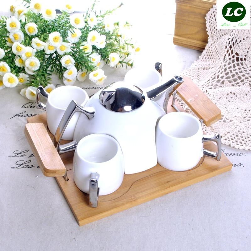 Набор для кофе и чая бутылки для воды Европейский керамический чайник для холодной воды креативный домашний фарфоровый чайник - 3