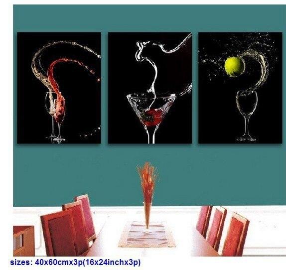 3 unidades arte de la pared abstracta moderna fantasia Negro-Gris ...