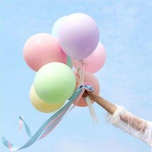 Image 2 - 30/50 Uds. De 5 globos de macarrón de látex para decoraciones para fiesta de cumpleaños, baby shower, boda, grandes suministros para eventos