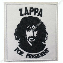 "3"" ZAPPA For President Frank Zappa Music Rock Band LOGO Embroidered IRON ON Patch Applique Cap Hat Heavy Metal"
