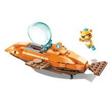 Octonauts Building Block GUP-B Tiger Shark Vehicle & kwazii 113pcs Educational Bricks Toy For Boy Gift