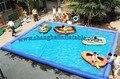 Preço baixo Personalizado piscina inflável DHL Frete rápido embarque crianças/adulto piscina 5*5 metros de natação família piscina