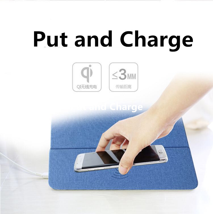 YWEWBJH Qi Wireless Charger Charging Mouse Pad Mat for iPhone X 8 8Plus for Samsung S8 Plus S7 S6 Edge Note 8 Note 5 in Mobile Phone Chargers from Cellphones Telecommunications