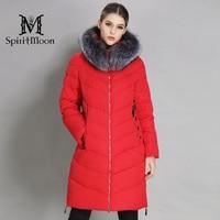 SpiritMoon 2018 Winter Women Thickening Bio Down Jacket Hooded Coat Women Parka Long With Natural Fur Collar Plus Size 5XL 6XL