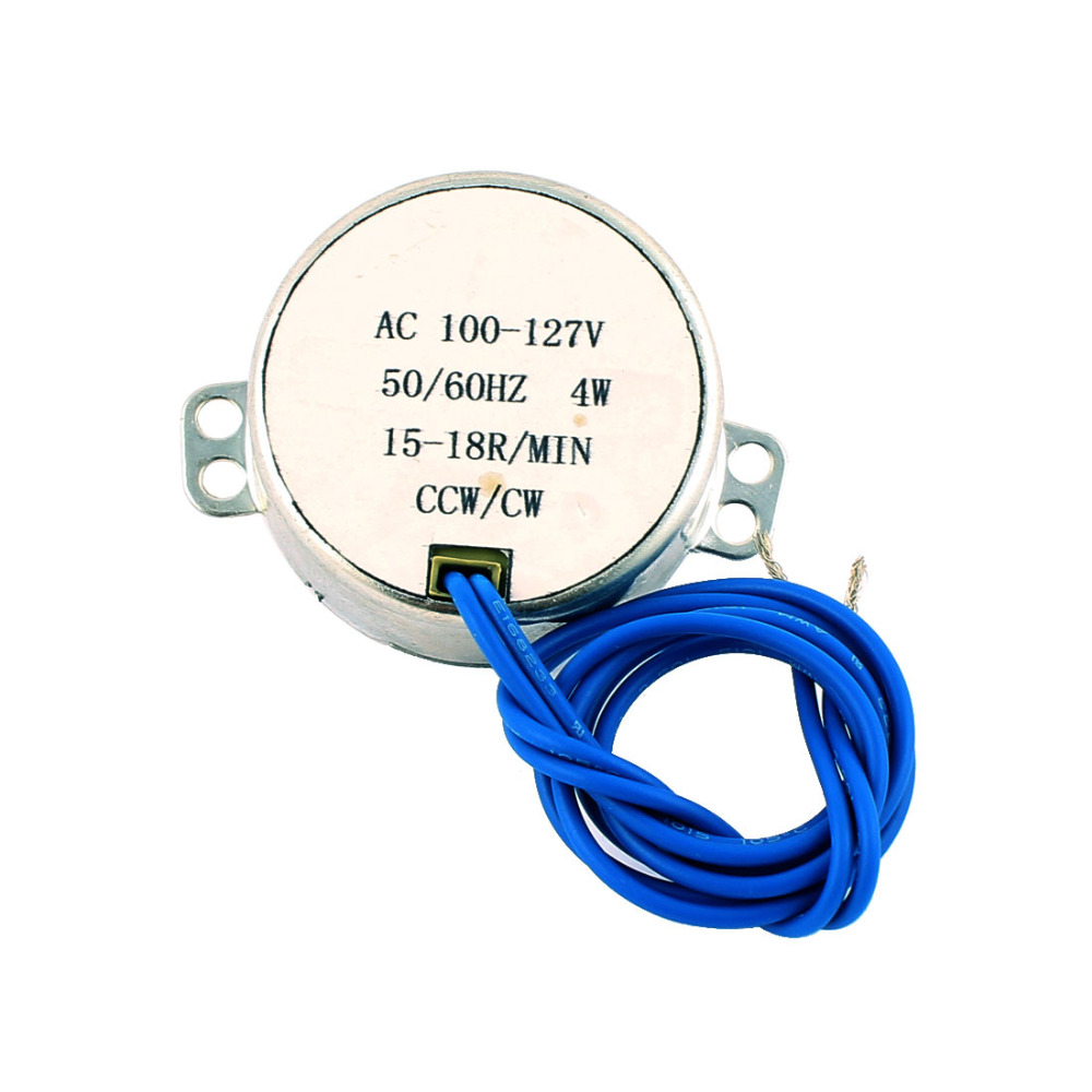 UXCELL High Quality 1Pcs Synchronous <font><b>Motor</b></font> <font><b>110V</b></font> AC 50/60Hz 2.5RPM CW/CCW Torque 4W Turntable Gear Box for Microwave Oven image