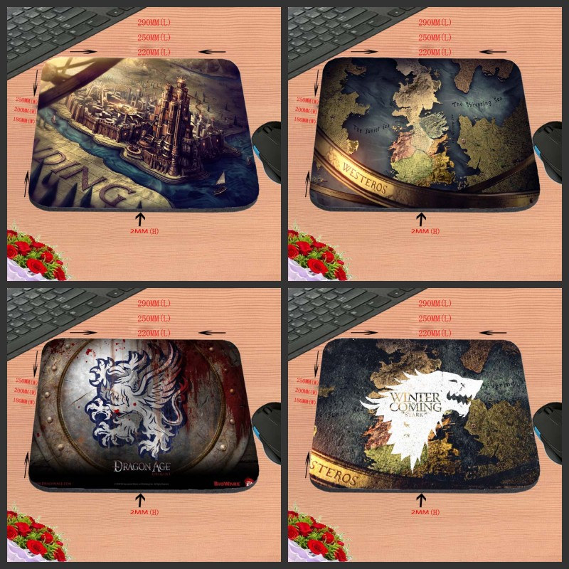 2017 TV Series Printing Design Anti-slip Durable New Arrival Customized Rectangular Mouse Pad Computer PC Nice Gaming As Gift