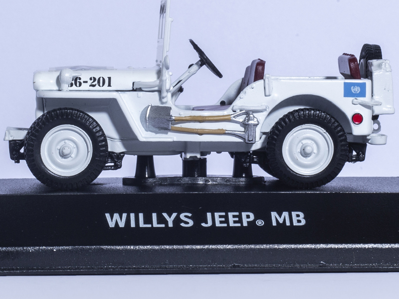WILLYS JEEP MB UNITED NATIONS UNIES UN 1/43 Greenlight Diecast Car Model Limited white willys jeep 1 10