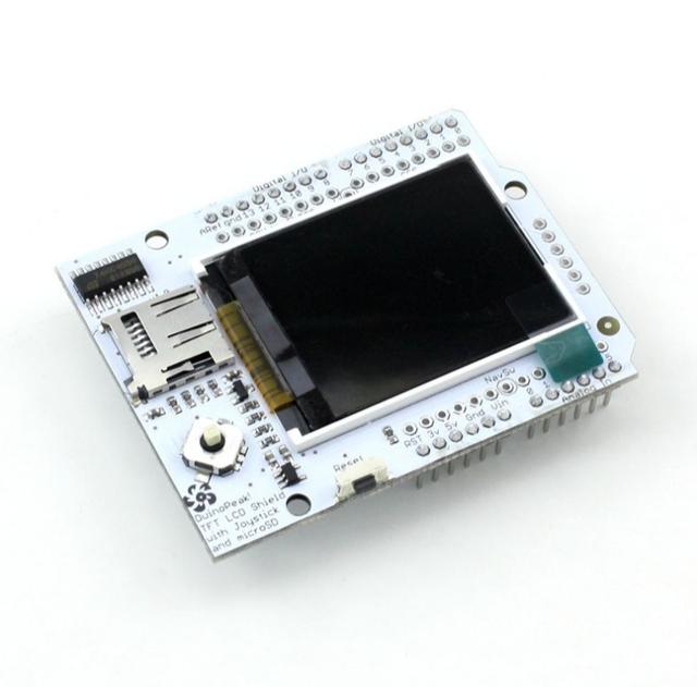 Eletrônica inteligente para arduino cores Duinopeak placa de extensão de 1.8 polegada TFT LCD W/MICROSD E JOYSTICK