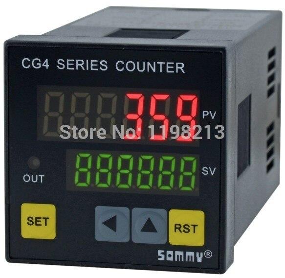 ФОТО CG Series Digital Counter CG4 48*48mm Electric Digital Counter