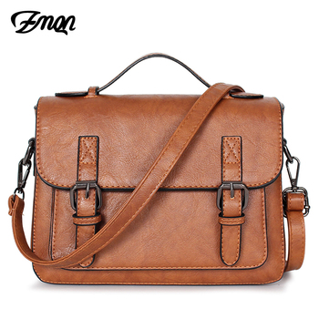 6425be7eb7b2 ZMQN Crossbody сумки для Для женщин 2019 плечо Курьерские сумки кожаные  женские сумки Для женщин маленький портфель Bolso mujer C202