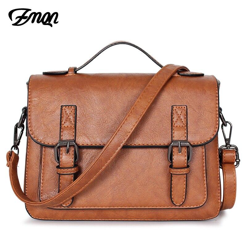 ZMQN bolsas para las mujeres mensajero bolsa 2018 bolsos bandolera de cuero de PU pequeña bolsos Vintage, Bolsos Mujer bolsos cubierta C202