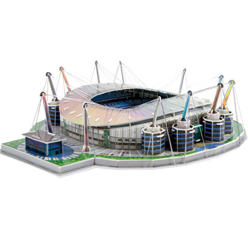 Classic Jigsaw Models England City of Manchester Etihad F.C. RU Football Game Stadiums DIY Brick Toys Scale Sets Paper