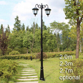 European American style landscape lighting garden outdoor post light with rod vintage road lamp street light