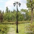 Europeu estilo Americano iluminação da paisagem do jardim luz da lâmpada de rua ao ar livre poste de luz com haste de estrada do vintage