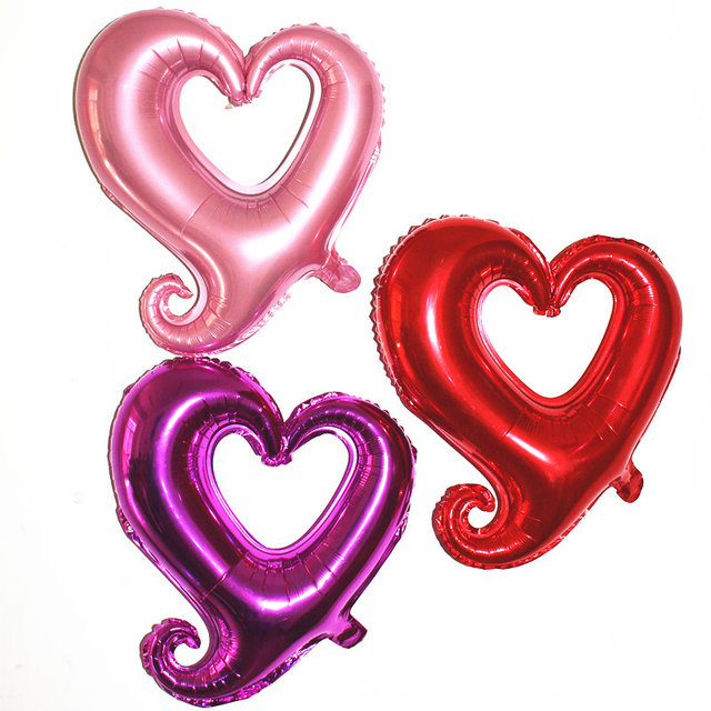 18inch Happy Wedding Party Love Heart Marriage Foil Balloon Party Bride Wedding Balloon Celebration Party Decorate Balloon