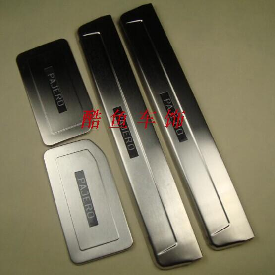 stainless steel LED Scuff Plate/Door Sill for 2008-2011 Mitsubishi Pajero sport V97 V93 V73 PAJERO famosa nancy