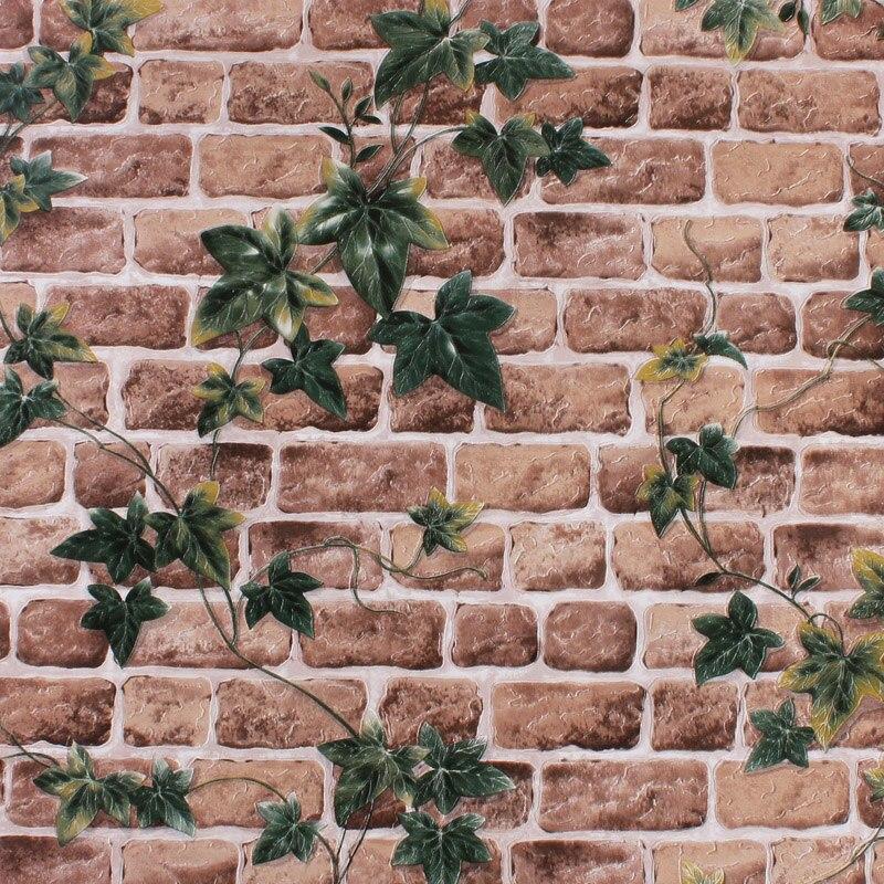 PAYSOTA Hot New Modern 3D Brick Leaves Grain Wallpaper Stone Bed Room Livingroom TV Setting Background Wall  Paper mediterranean style sky blue wallpaper modern pure color wall paper roll for bed room livingroom
