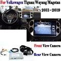 Реверсивная камера для Volkswagen Tiguan Wayang Magotan 2011 ~ 2019 адаптер Подключение оригинальный экран парковочная задняя камера MMI декодер