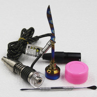 Newest Heater Coil E Nail D Nail With 6 In 1 Titanium Nail Quartz Nail Hybrid For Hookah Glass Pipes Christmas Gift