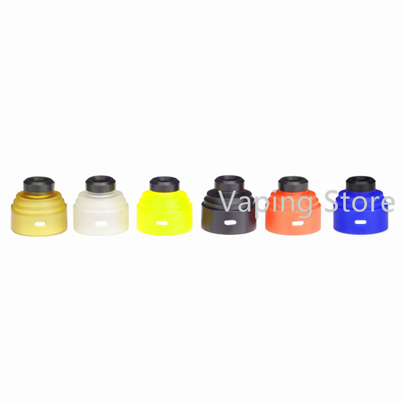 Electronic Cigarette Accessories Frank Gas Mods G.r.1 Rda 22mm Pei/pc/pom Top Cap With Drip Tip Kit Commodities Are Available Without Restriction Electronic Cigarettes