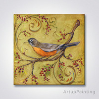 Modern birds tripping fashionable adornment picture on the canvas painting printing home decorative wall wall art photos