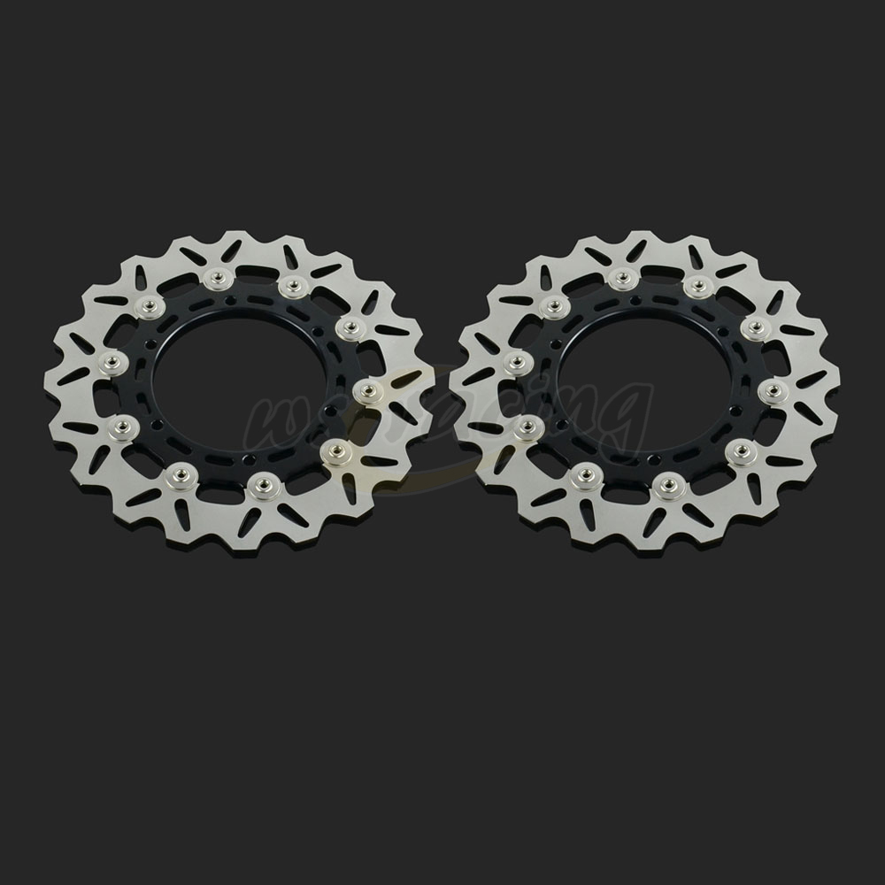 298MM Motorcycle Front Wavy Floating Brake Disc Rotor For YAMAHA XJ600N YZF600R TDM900 YZF1000R YZF1000 YZF600 YZF R1 R6 XJR1300 floating front brake disc rotor for motorcycle yamaha yzf r1 yzf r6 yzf600r yzf1000r xv1600 xv1700 xv1900