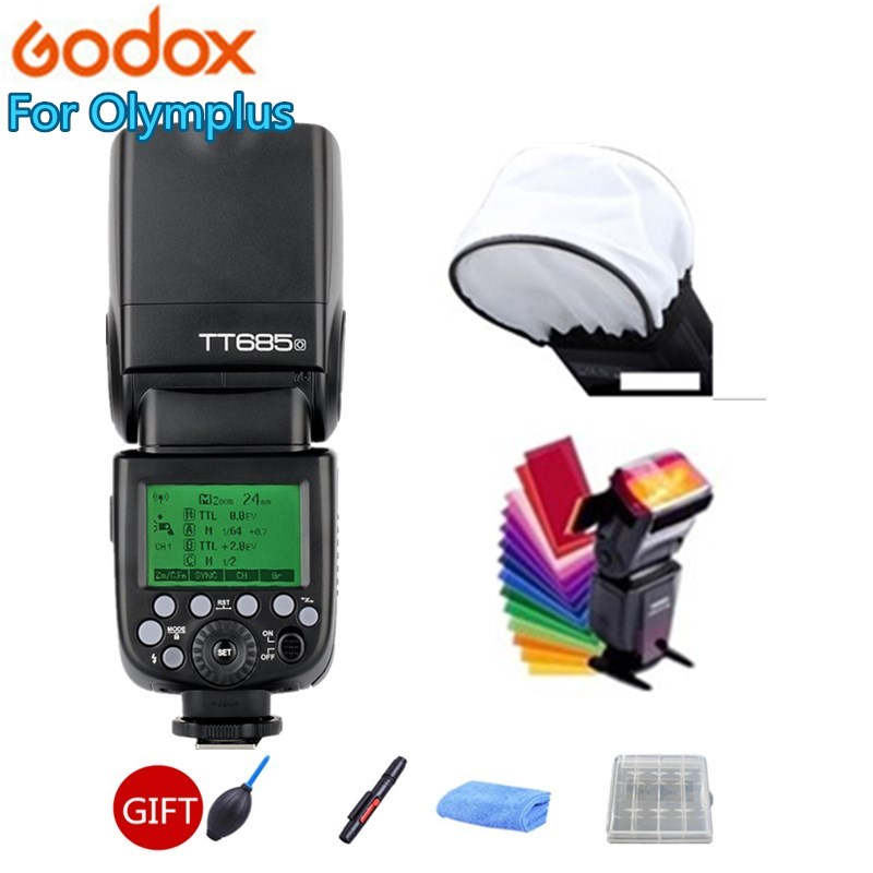 Godox TT685 TT685O 2 4G Wireless HSS 1 8000s TTL Camera Flash Speedlite for Olympus Panasonic