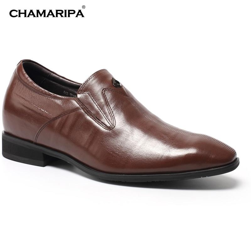 CHAMARIPA Men Elevator Shoes  7cm/2.76 inch Increase Height Taller Dress Shoe Gentlemen Shoes Hidden Heel  H62D09K061D кастрюля taller tr 1083
