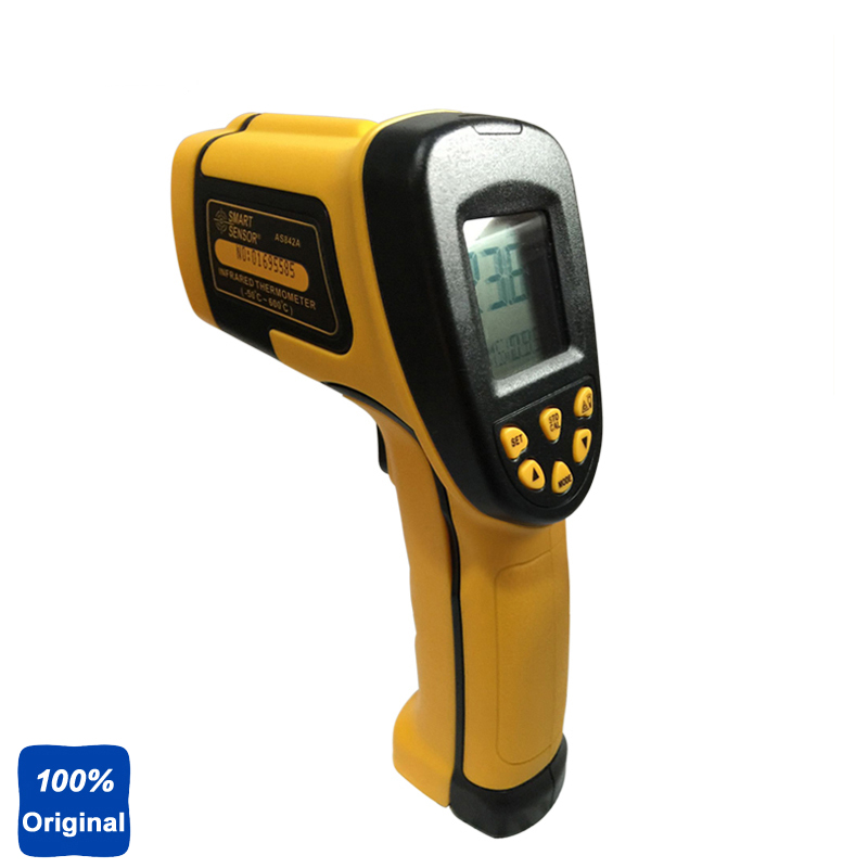 100% Original AS842A Digital IR Thermometer Non-contact Infrared Thermometer -50~600 Degree original xiaomi mijia ihealth thermometer accurate digital fever infrared clinical thermometer non contact measurement led shown