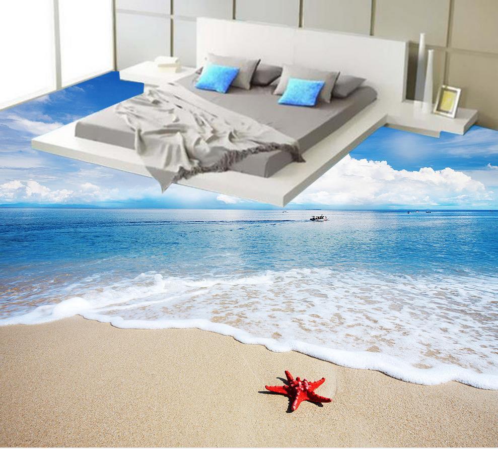 ФОТО 3d floor wallpapers Bathroom 3d floor murals Photo floor wallpaper 3d stereoscopic  self-adhesive 3D floor beach