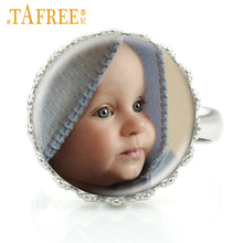 Фотография TAFREE Personalized Ring Photo Of Your Lover Baby,Mama,Papa,Mom,Dad,Girl Friend Custom designed Image DIY Rings Picture jewelry