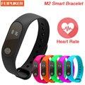 2016 Nova M2 Inteligente Pulseira Smartband Saúde Monitor De Freqüência Cardíaca Do bluetooth Rastreador De Fitness Banda Inteligente Pulseira para Android iOS