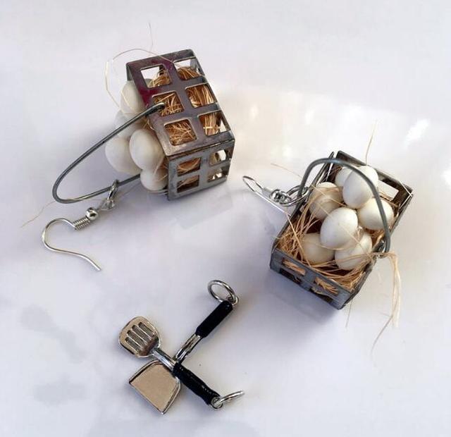 Egg Baskets Earrings 1
