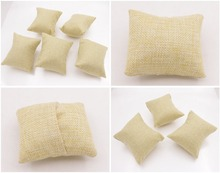 7cmX9cm New Beige Linen flax small Pillow Watch Bracelet Jewelry Display 5PCS 3PCS 1PCS  Choose