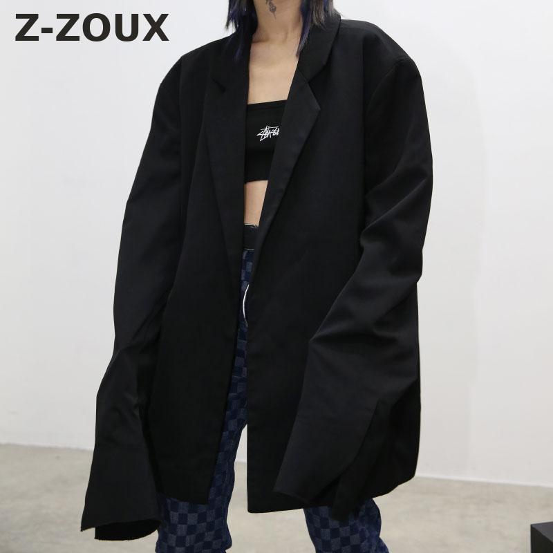 Z-ZOUX femmes Blazer Oversize femmes Blazers à manches longues femmes vestes femmes veste lâche Long Blazer hommes femmes costume manteau automne