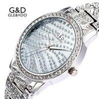 2017 G D GLE VDO Womem S Bracelet Watches Fashion Silver Womens Wristwatch Ladies Dress Watch