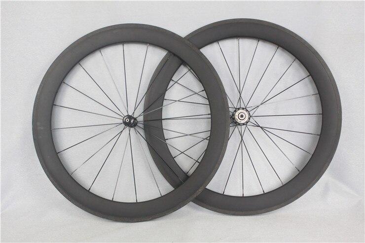 60mm wheelset high quality and 1 year warranty clincher/tubular roue T800 carbon wheelset road bike wheel V brake carbon wheels(China)