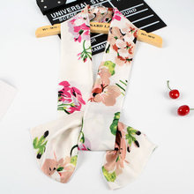 Fashionable and elegant womens style Small Silk Scarf Lady Business Tie Long Double-sided Printed Scarves