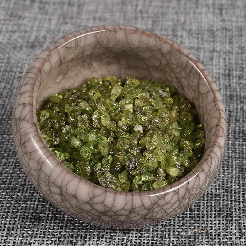 Extra 10gram Free 100 Gram Natural Oliven Gemstone Mineral Crystal