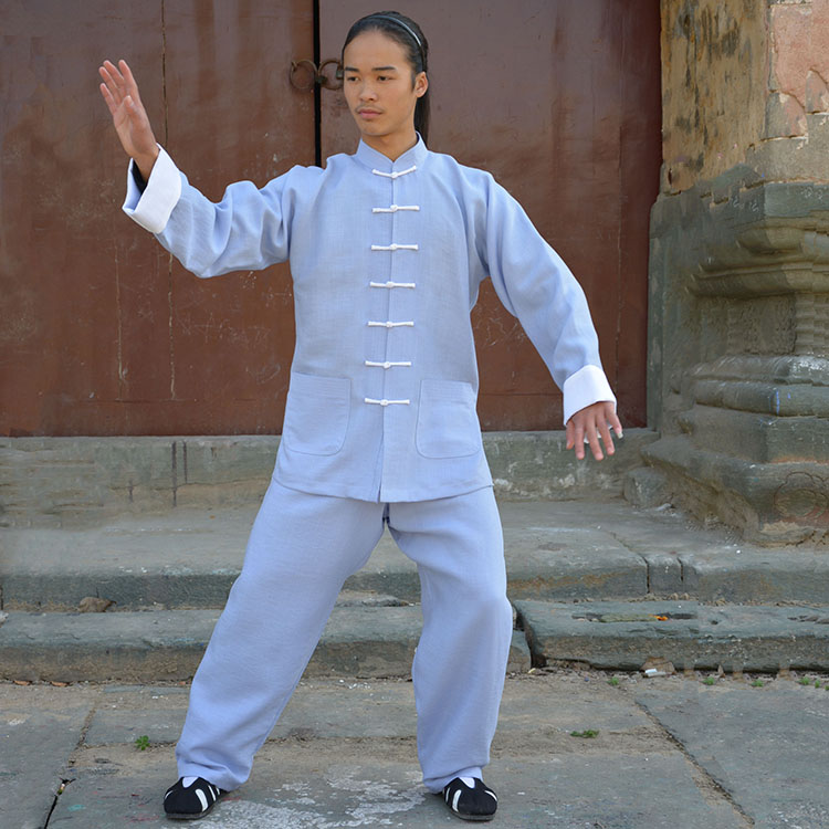 Luxury Linen Slub Tai Chi Clothing Linen Morning Clothing Cotton Linen Meditation Lay Suits Martial Arts Training Suits