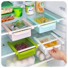 Slide Kitchen Fridge Shelf Freezer Space Saver Organization Storage Rack Seasoning Eggs Fresh