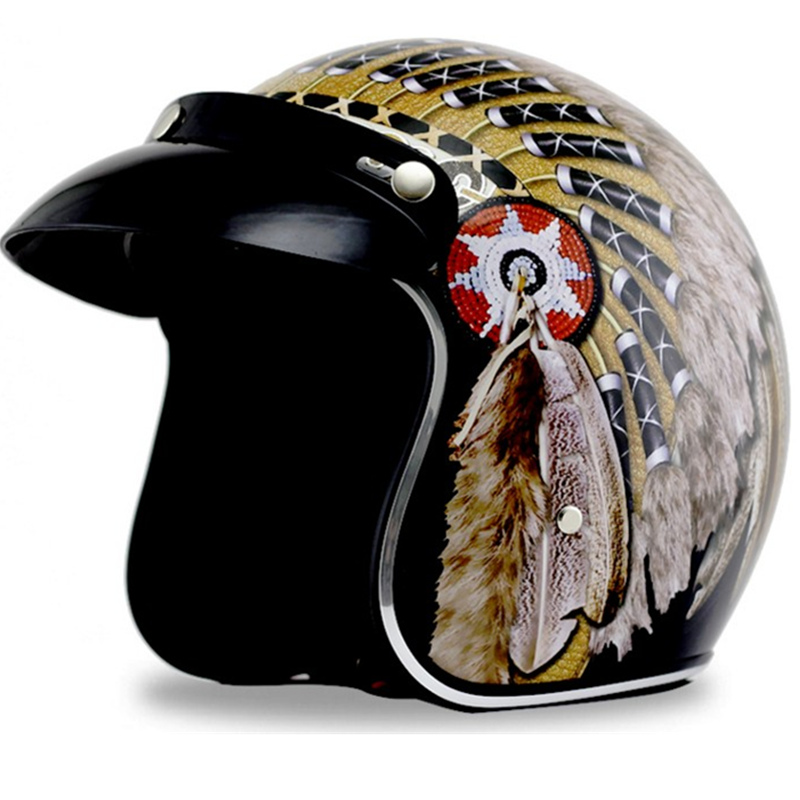 FREE SHIPPING CHROME MIRROR Silver Chrome Mirror Helmets Vintage scooter Motorcycle Open face Helmet retro Jet DOT