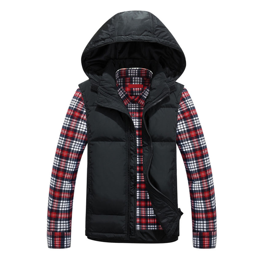 2017 new arrivals casual male vest autumn and winter warm male down vest winter coat 100cy