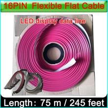 16PIN LED リボンケーブル、シングル & ダブルカラー屋内と屋外フルカラー led ディスプレイ 16Pin データケーブル