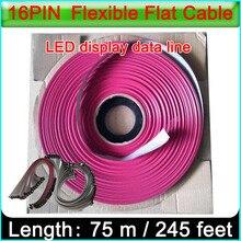 Cable de cinta LED de 16 Pines, color único y doble, cable de datos de 16 pines para pantalla LED a todo color para interior y exterior