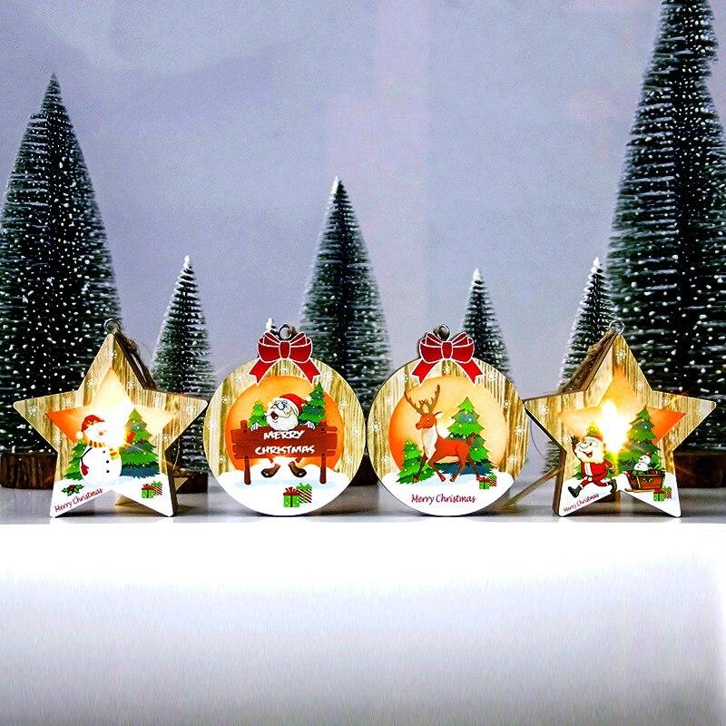Christmas Tree Decorations Aliexpress: Christmas Tree Wood Ornaments Christmas Decorations For