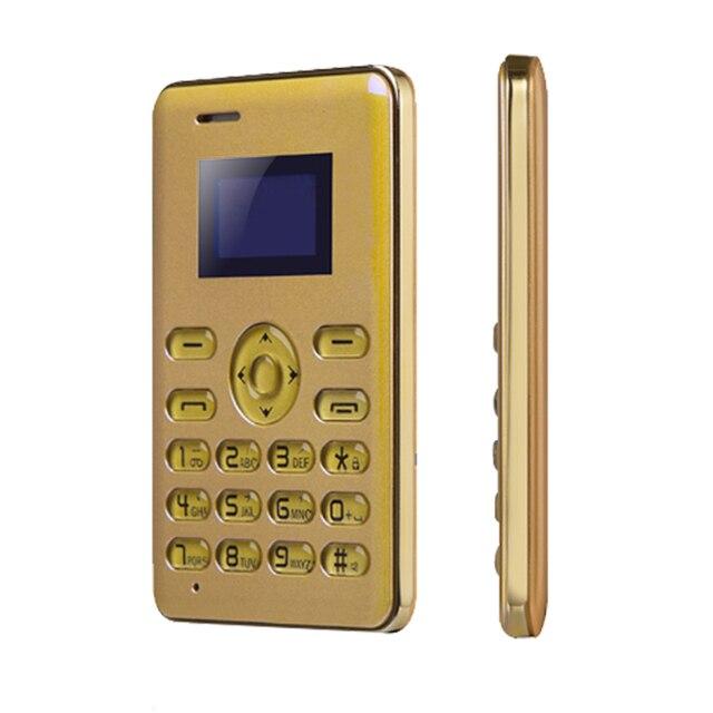 AEKU Q3 Russian Portuguese,Arabic MP3 FM radio Handfree Kid Girl Women Mini size Small Ultrathin credit card mobile phone P150